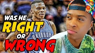 Russell Westbrook PISSES OFF Reporter!! | Was he Wrong for Doing This?