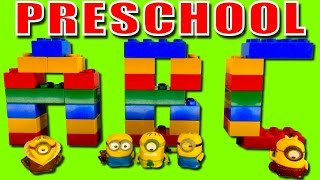 Preschool Learning ABC with Minions Lego Duplo Stop Motion Learn ABC Preschool for Kids Minions Toys
