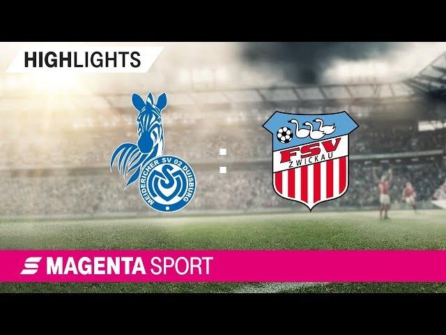MSV Duisburg - FSV Zwickau   Spieltag 5, 19/20   MAGENTA SPORT