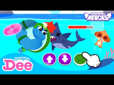 Captain Turtle Game   Help! Animal Heroes! 🚨   Learn numbers   Dragon Dee Games for Children  