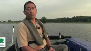 electrofishing survey at west boggs lake   indiana dnr