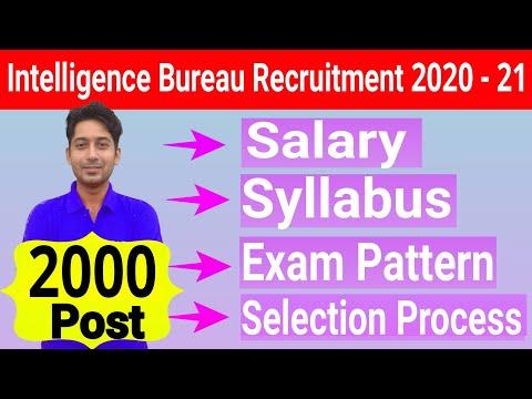 Intelligence Bureau Recruitment 2020 | MHA IB ACIO Syllabus | IB ACIO Exam Pattern | MHA IB Salary