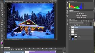Новогодняя анимация в Photoshop. Урок 3. Свечение гирлянд