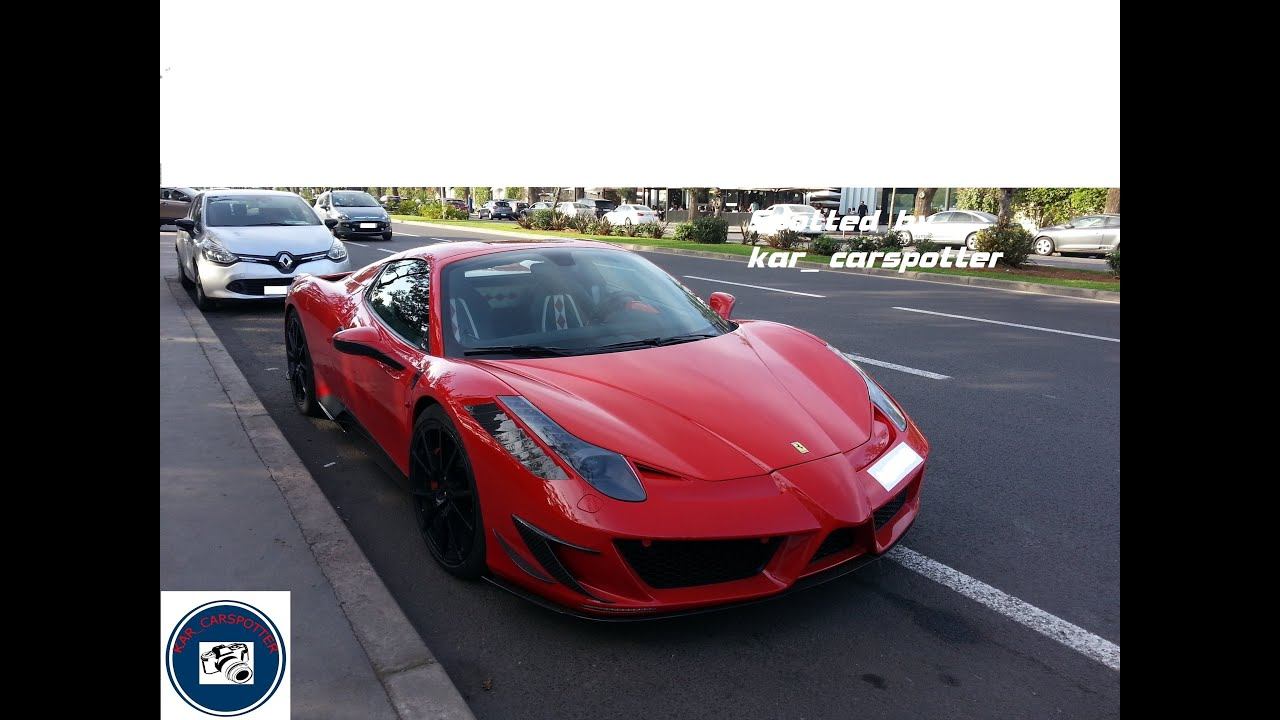 ferrari 458 italia spyder monaco edition by mansory in morocco youtube. Black Bedroom Furniture Sets. Home Design Ideas