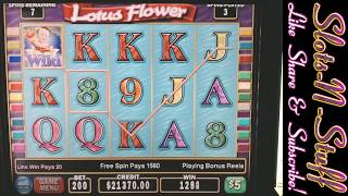 Lotus Flower Slot Play - Quest for the $1 Million Jackpot!!
