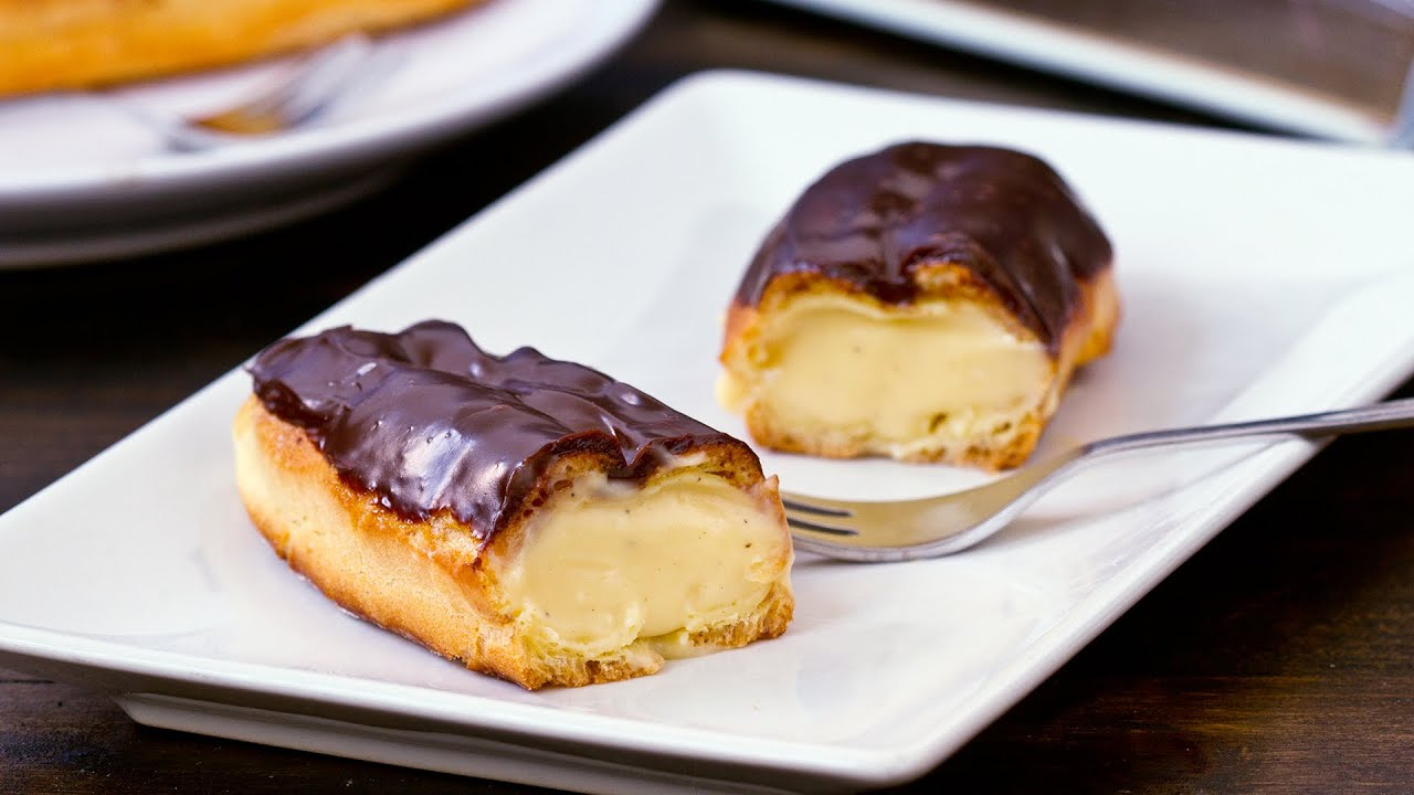 Vanilla Eclairs Recipe - YouTube