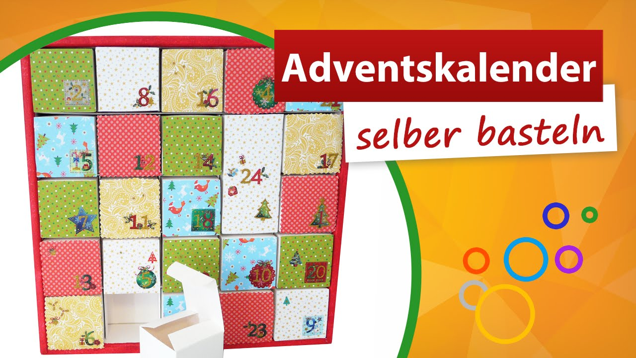 adventskalender zum selber basteln weihnachtskalender bastelidee trendmarkt24 youtube. Black Bedroom Furniture Sets. Home Design Ideas