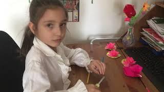 Vlogul Anabelei Cum sa faci o floare din hartie (lalea)