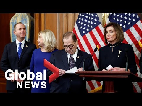 Trump Impeached: Pelosi and top Democrats react after voting to impeach