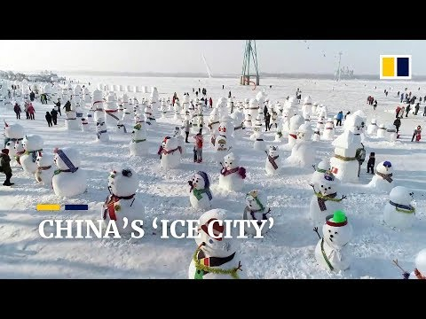 China's 'Ice City' draws millions of visitors with sub-zero sculptures