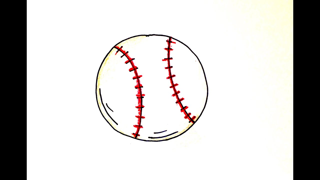 Drawing Lesson: How To Draw A Baseball