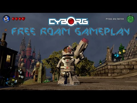LEGO Dimensions - Cyborg Free Roam Gameplay on DC Comics World