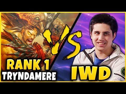 #1 TRYNDAMERE WORLD VS IWDOMINATE TOP LANE! WHO WILL WIN?!? (SEASON 9) - League of Legends