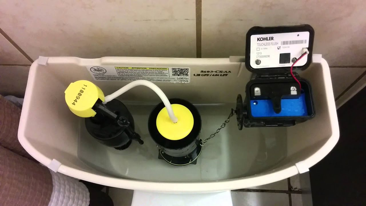 Kohler Cimarron Touchless Flush Issue Youtube