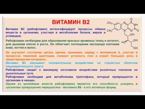 № 189. Органическая химия. Тема 28. Витамины. Часть 7. Витамин В2