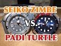 PADI TURTLE VS. SEIKO ZIMBE! SRPA19 SRPA21