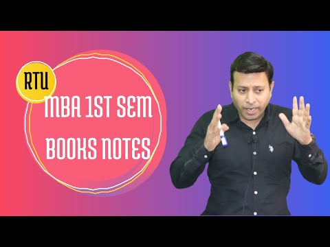 RTU MBA 1 SEM BOOKS NOTES