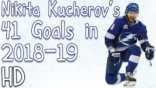 Nikita Kucherov's 41 Goals in 2018-19 (HD)