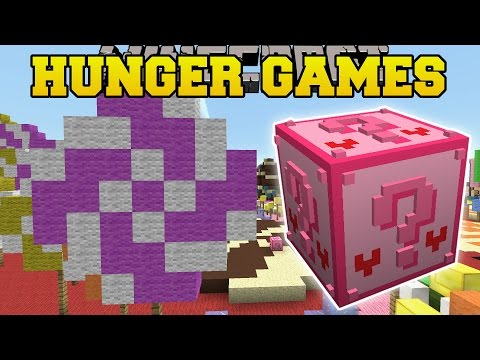 Minecraft: CANDYLAND HUNGER GAMES - Lucky Block Mod - Modded Mini-Game