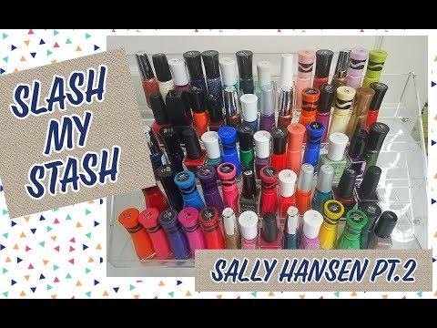 Slash My Stash  Nail Polish Destash Pt 9  Sally Hansen Pt 2