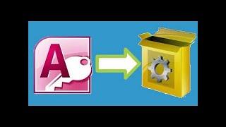 تحويل قاعدة البيانات الى ملف تنفيذى EXE | اكسس 2010 | قناة A-Soft التعليمية