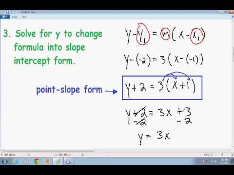 Equation of a Line given two points - YouTube