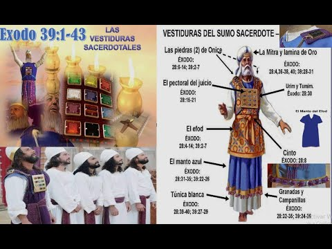 63-Éxodo 39:1-43 LAS VESTIDURAS SACERDOTALES