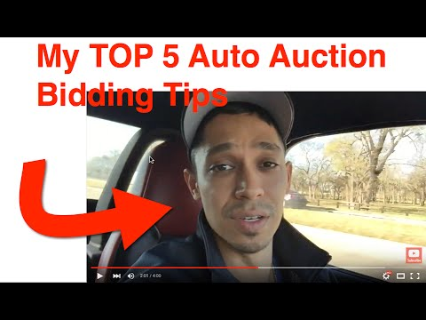 My Top 5 Tips To Being A Better Auto Auction Bidder - Avoid Losing Money!