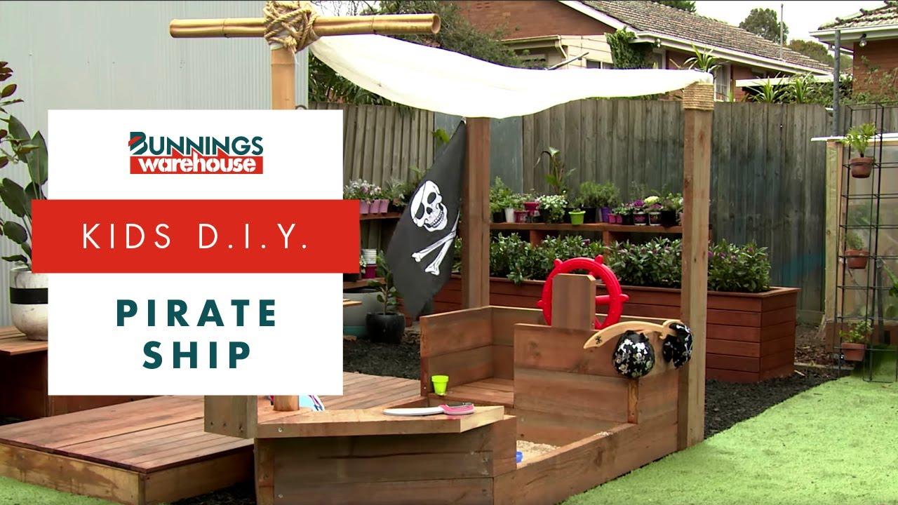 how to build a d i y pirate ship sandpit d i y at bunnings