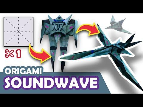 How to make a Transforming DECEPTICON SOUNDWAVE Origami Transformer
