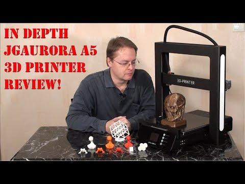 In Depth JGAurora A5 3D Printer Review
