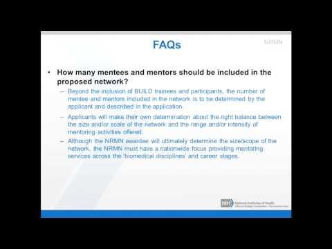 The NIH Common Fund Diversity Initiatives Webinar: TOPIC 3: NRMN