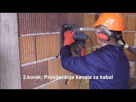 IGM Visoko :: Primjer jednostavne pripreme zida od cigle za elektroinstalacije