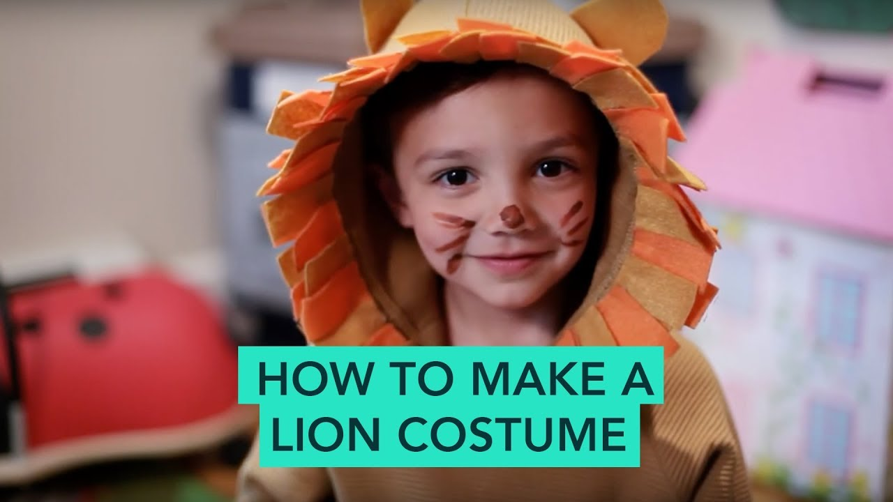 How To Make A Lion Costume Easy Diy Halloween Care Com