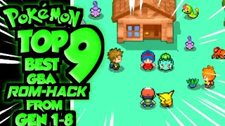Top 9 Pokemon GBA GAMES From 1 to 8 regions