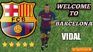 Dream league soccer 2018 welcome to barcelona fc vidal profile dat