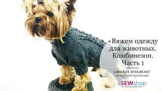 """""""Вяжем одежду для животных спицами. Комбинезон. Часть 1"""" вместе с Lorraine Woolheart"""