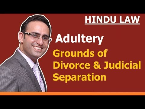 Grounds of Divorce and Judicial Separation (Video-2) (Adultry)