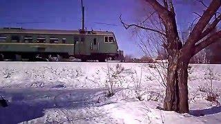 Электропоезд ЭД4М 0325 - Захарово, Ногинск.(, 2016-02-08T13:25:26.000Z)
