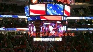 National Anthem / Tyler Butler-Figueroa, Violinist / Carolina Hurricanes / Hockey Fights Cancer