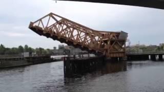 Rolling bascule bridges: Boston