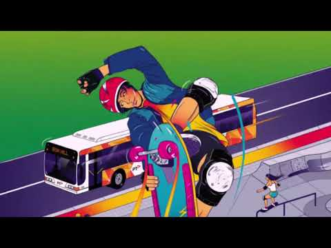 The making of a travel poster: Box Hill Skate Park