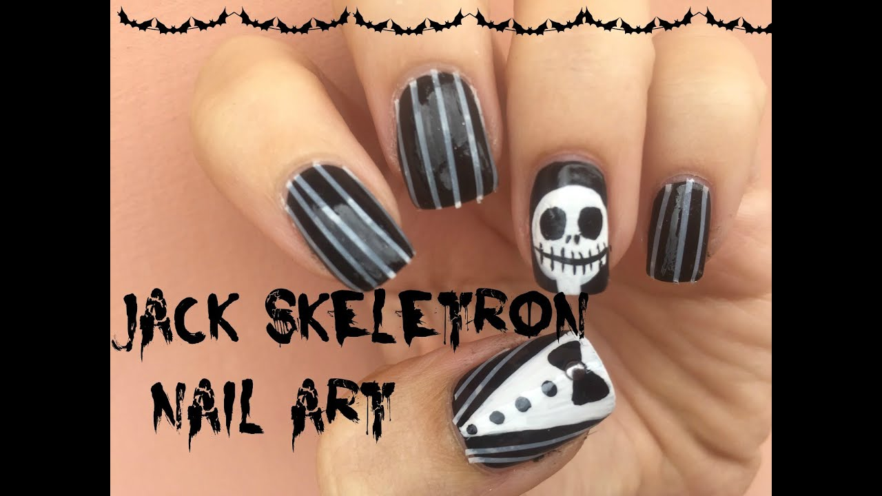 Jack Skellington Nail Art Nightmare Before Christmas Halloween