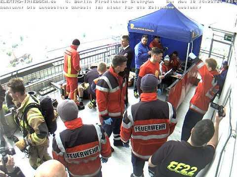 4. Berliner Firefighter Stairrun 2014 Webcam Ziel ab 14:16 Uhr