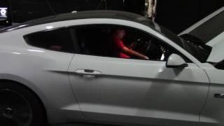 Ford mustang Gt 5.0 coyote + headers + escape + oxido nitroso shots 100 hps a dynotest dynocom