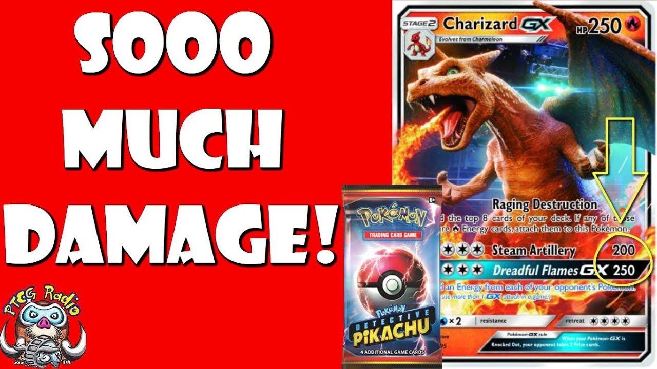 New Charizard Gx Can Do Huge Damage Detective Pikachu Pokemon Cards Youtube