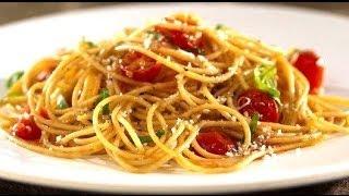 Итальянские спагетти с томатами - лёгкий рецепт!