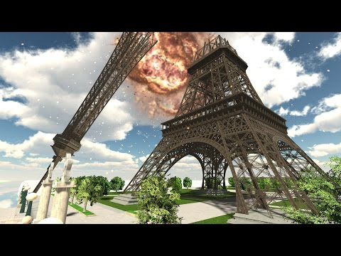 Demolition 3D - Eiffel Tower Collapses!