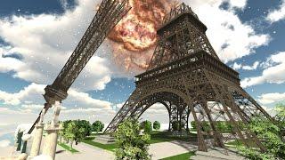 Demolition 3D - Eiffel Tower Collapses!