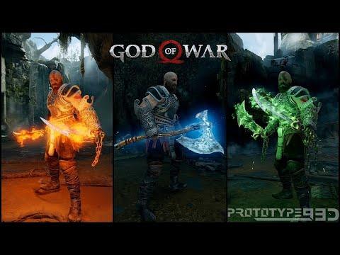 God of War (2018) - All Weapons and Runic Attacks